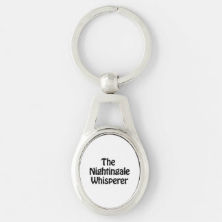the nightingale whisperer Silver-Colored oval key ring