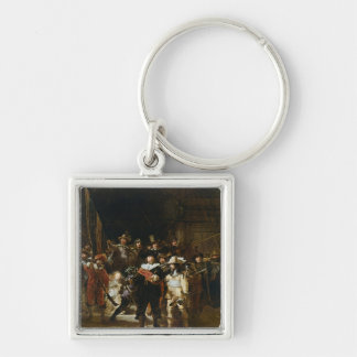 The Nightwatch Silver-Colored Square Key Ring