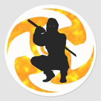 THE NINJAS MOMENT ROUND STICKER