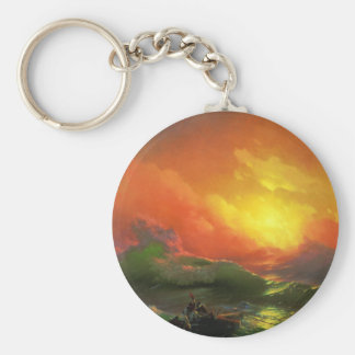 The Ninth Wave Ivan Aivazovsky Keychain