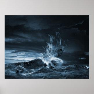 The ninth wave remake, digital artwork poster
