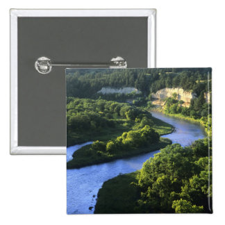 The Niobrara River near Valentine Nebraska 15 Cm Square Badge