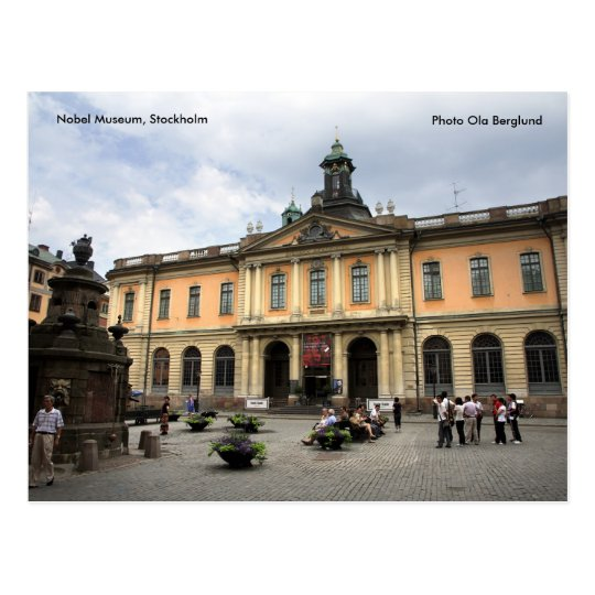 The Nobel Museum, Stockholm, Photo O... Postcard