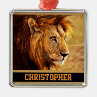 The Noble Lion Photograph Christmas Ornament