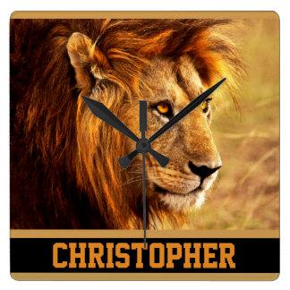 The Noble Lion Photograph Clocks