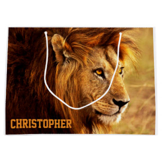 The Noble Lion Photograph Large Gift Bag