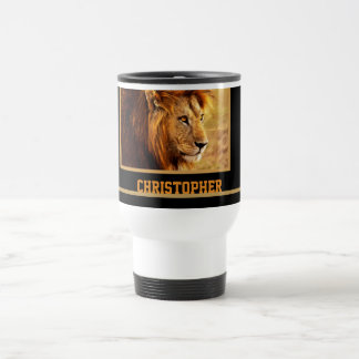 The Noble Lion Photograph Travel Mug