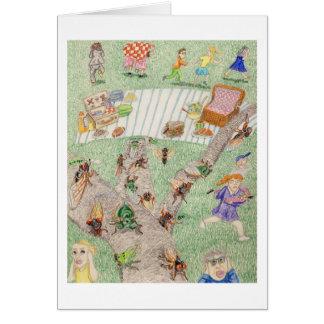 The Noisy Picnic Card