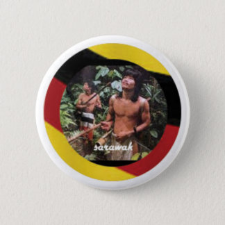 The nomadic native of Borneo Island 6 Cm Round Badge