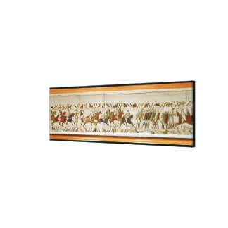 The Norman cavalry attacks the English Canvas Print