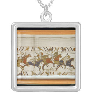 The Norman cavalry attacks the English Silver Plated Necklace