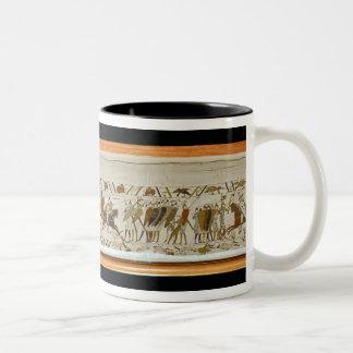 The Norman cavalry attacks the English Two-Tone Coffee Mug