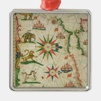 The North African Coast, from a nautical atlas Christmas Ornament