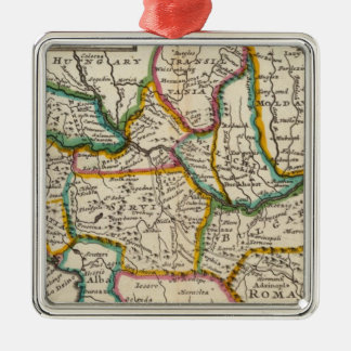 The north part of Turkey in Europe Silver-Colored Square Decoration