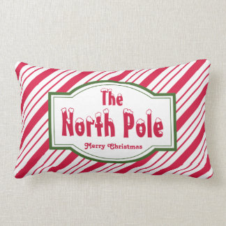 The North Pole Christmas Candy Pillow Decoration