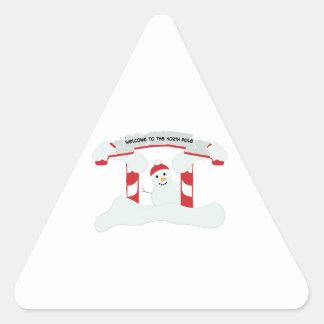 The North Pole Triangle Sticker