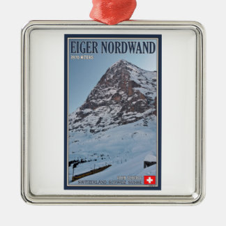 The North Wall of the Eiger Christmas Ornament