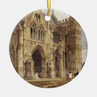 The North-West Porch of Salisbury Cathedral, 1832 Christmas Ornament