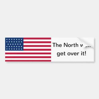 The North won 34 star flag Bumper Sticker