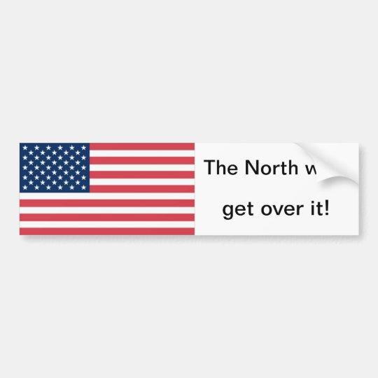 The north won sticker bumper sticker