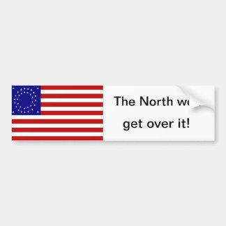 The North won sticker round star flag