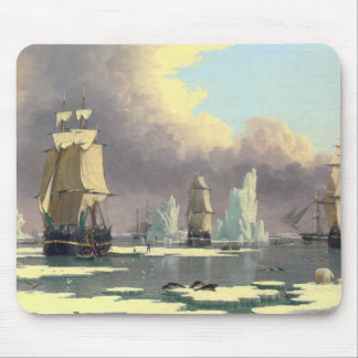 The Northern Whale Fishery - Oil Painting Mouse Pad
