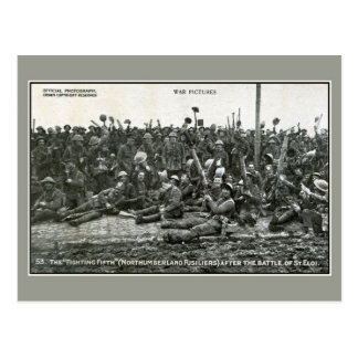 The Northumberland fusiliers after the battle Postcard