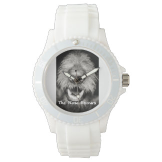 """""""The Nose Knows""""  Cute Dog  Ladies Watch"""