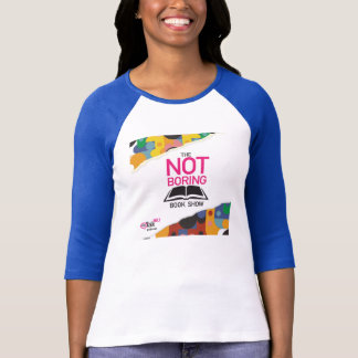 The Not Boring Book Show Blue Sleeve Tee