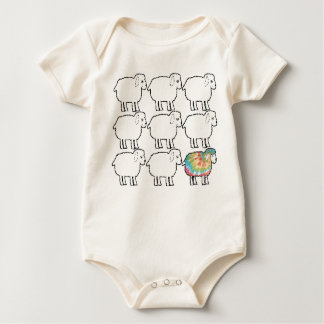 the not so black sheep baby bodysuit