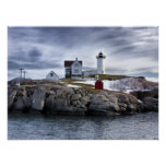 "The ""Nubble""  Cape Neddick lighthouse York, Maine Poster"