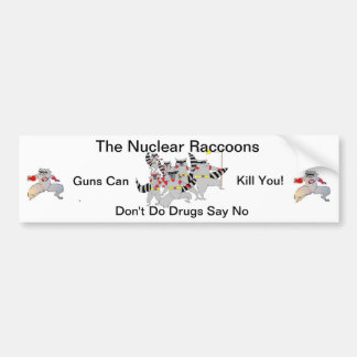 The Nuclear Raccoons Car Bumper Sticker