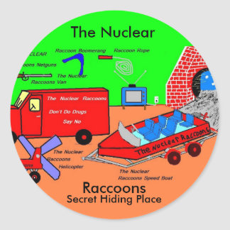 The Nuclear Raccoons  Secret  Hiding Place Round Sticker