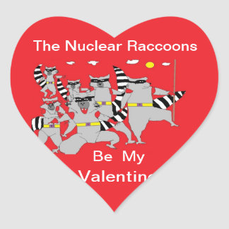 The Nuclear Raccoons Valentine Stickers