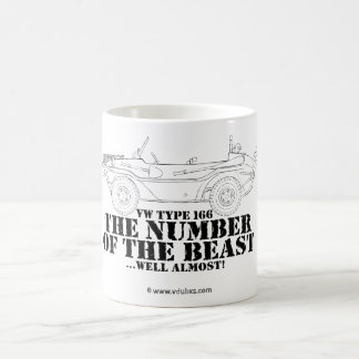 the number of the beast …well almost! basic white mug