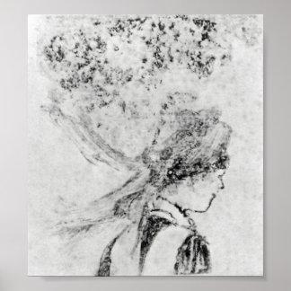 The nurse by Edgar Degas Poster