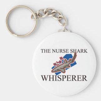 The Nurse Shark Whisperer Basic Round Button Key Ring