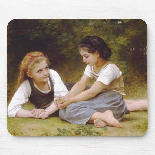 The Nut Gatherers by William Adolphe Bouguereau Mousepad