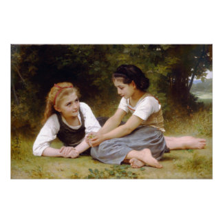 The Nut Gatherers by William-Adolphe Bouguereau Poster