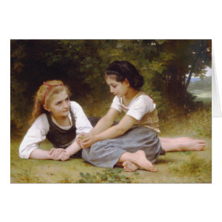 The Nut Gatherers, William-Adolphe Bouguereau Card
