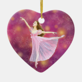 The Nutcracker Ballet Heart Shape Ornament - Clara