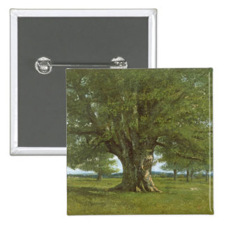 The Oak of Flagey, called Vercingetorix 15 Cm Square Badge
