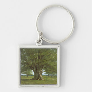 The Oak of Flagey, called Vercingetorix Silver-Colored Square Key Ring
