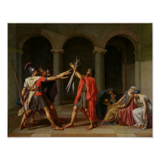 The Oath of Horatii, 1784 Poster