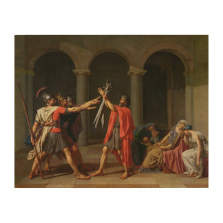 The Oath of Horatii, 1784 Wood Wall Decor