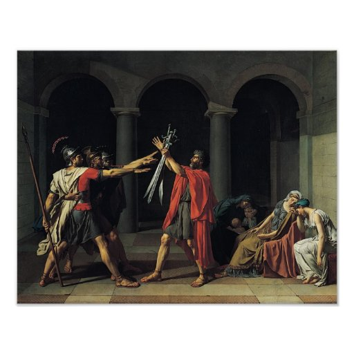 The Oath of the Horatii Poster