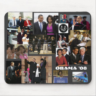 The OBAMA collage Mouse Mat