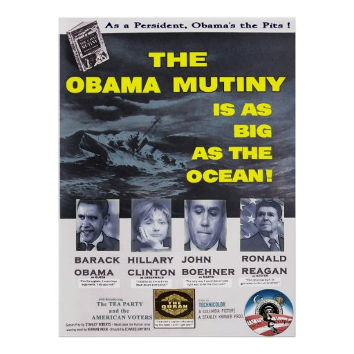 The Obama Mutiny is a Big as the Ocean Print