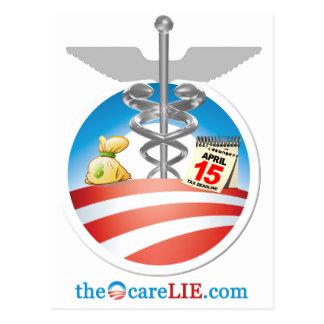 The ObamaCare Lie Postcard