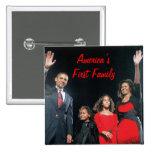 The Obamas: America's 1st Family 15 Cm Square Badge